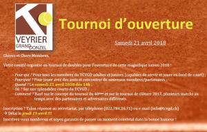 tournoi ouverture 2018