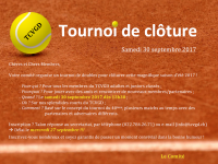 Tournoi cloture 2017